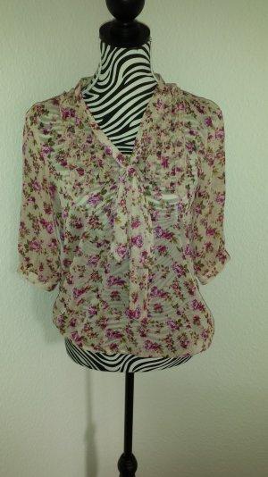 transparente Bluse mit angesagtem blümchenprint
