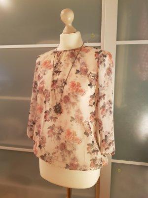 Transparente Bluse mit Blumenprint