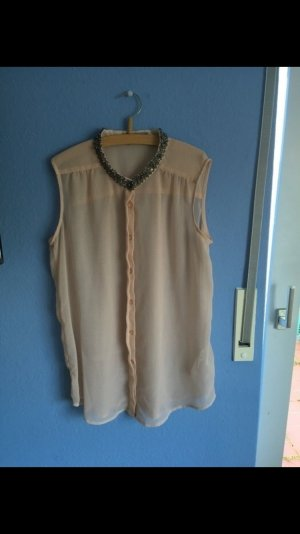 Transparente Bluse mit Details am Kragen