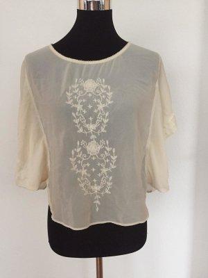 transparente Bluse mit Fledermausärmeln
