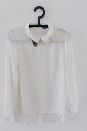Transparente Bluse mit Gold Kragen / Vero Moda Gr.S