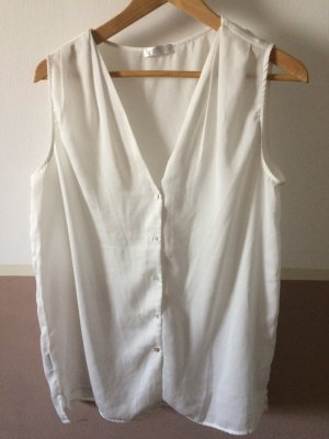 Transparente Bluse mit Knopfleiste