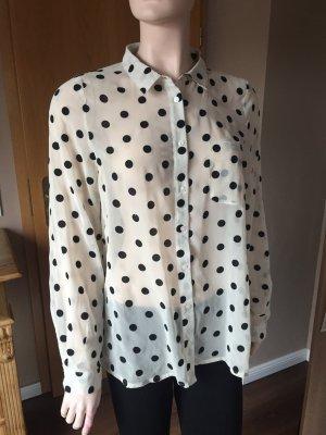 Transparente Bluse mit mittelgroßen Punkten