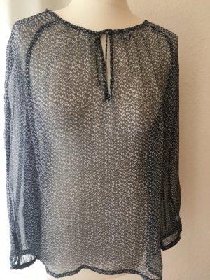 Transparente Bluse mit Muster
