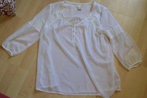 Transparente Bluse mit Netzeinsatz