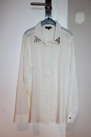 Transparente Bluse mit Nieten