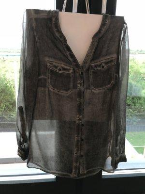 Transparente Bluse mit Pailetten von Street One