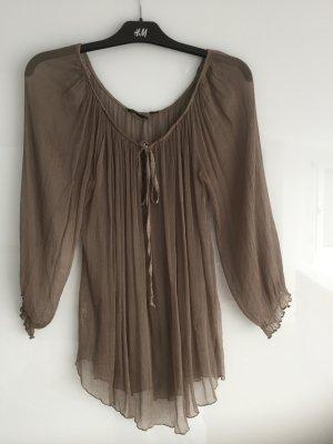 Slip-over blouse grijs-bruin