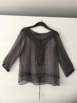 Transparente Bluse mit Tunnelzug von Zara