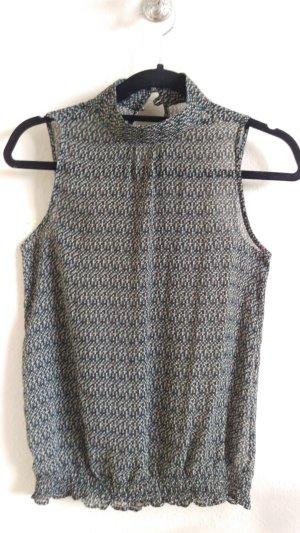 Transparente Bluse ohne Ärmel Gr. 34