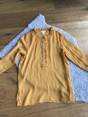 Transparente Bluse Okergelb/Sonnenblumengelb