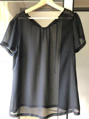 transparente Bluse schwarz