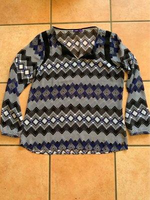 Transparente Bluse von Mexx mit grafischem Muster, Größe 42