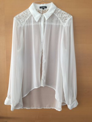 Transparente Bluse von Minimum Gr. 34 mit Spitze
