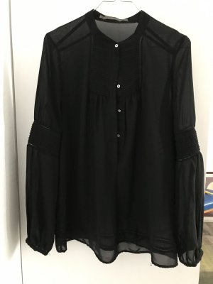 Zara Stand-Up Collar Blouse black