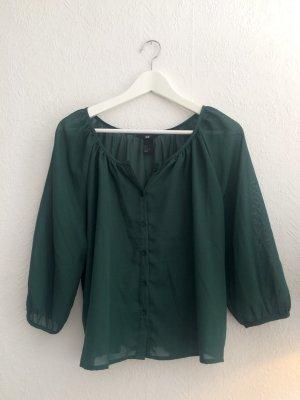 Transparente Bluse waldgrün