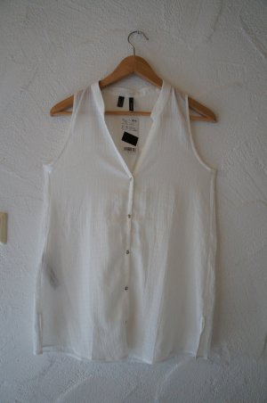Transparente Bluse weiß Mango Suit Größe XS