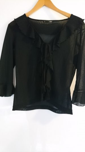Transparente Cardigan Bluse in Gr S