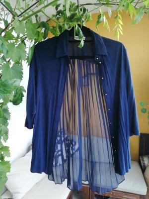 transparente dunkelblaue Bluse