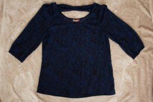 transparente dunkelblaue Bluse von ONLY - GR 36/38