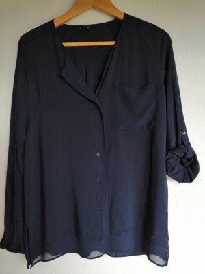 transparente dunkelblaue Bluse von Opus, Gr M
