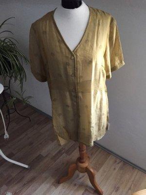 Transparente goldene Bluse