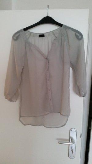 transparente graue Bluse