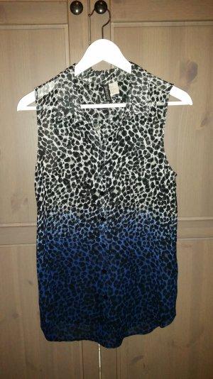 Transparente H&M Bluse im Leomuster