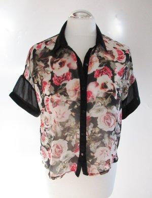 Transparante blouse veelkleurig Polyester