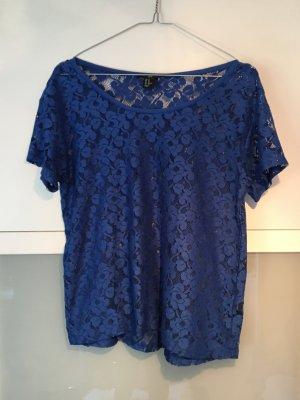 transparente königsblaue bluse XS H&M transparent 34 36 38