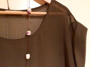 Transparente Long-Bluse von PIECES (S)