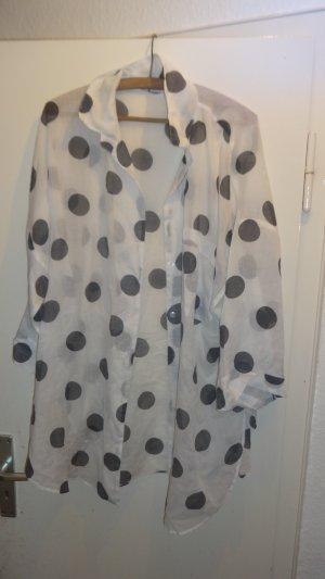Blusa ancha blanco-negro
