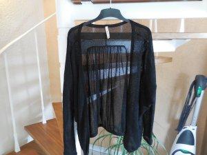 Transparente Oversize Glitzerjacke in schwarz von Pepe Jeans