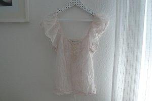 transparente, rosafarbene Bluse