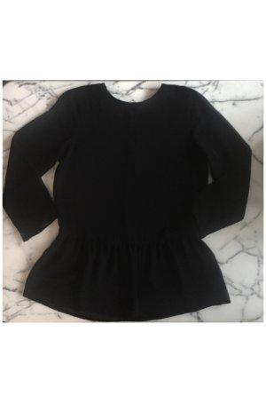 Transparente schwarze Schößchen / Volant Bluse NEU