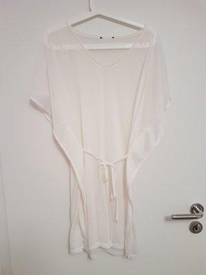 Transparente Strandtunika in Weiß von H&M