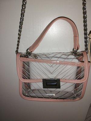Shoulder Bag silver-colored-pink
