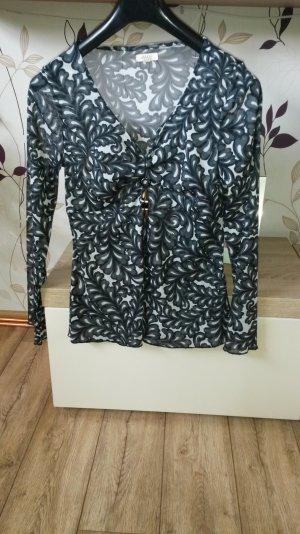 Transparente Tunikabluse tailliert mit Stretchanteil, Größe 40