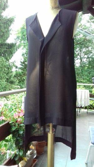 Transparente VokuHila-Bluse , passend zur Lurex-Hose