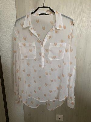 Transparente weiße Bluse
