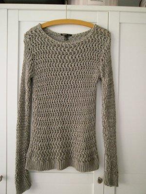 Transparenter Pullover aus grobem Strick von Mango, Größe L ungetragen