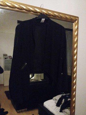 Transparenter Villa Blazer schwarz