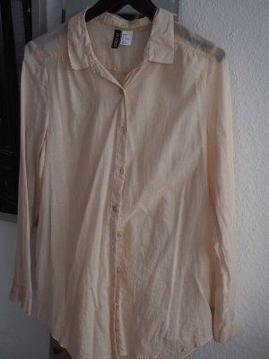 Transparentes beiges Oversize Hemd Bluse