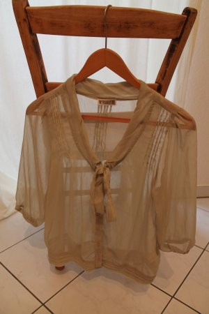 Transparentes Blusen-Shirt in Vintage-Optik