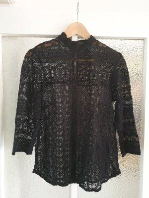 Lindex Blouse Top black polyamide