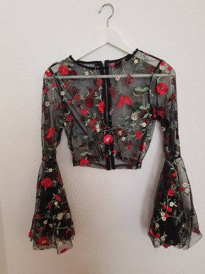Transparentes Crop Shirt SHEIN