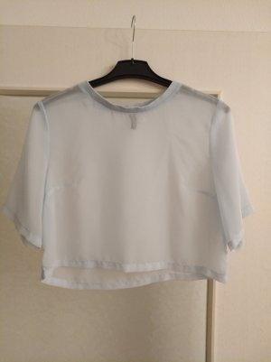 H&M Divided Cropped Shirt baby blue