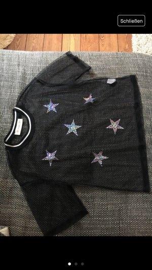 Twinkle Cropped shirt zwart-roségoud