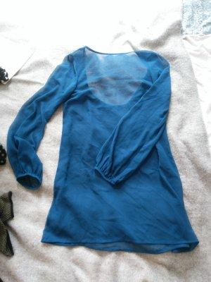 Transparentes Kleid In königsblau