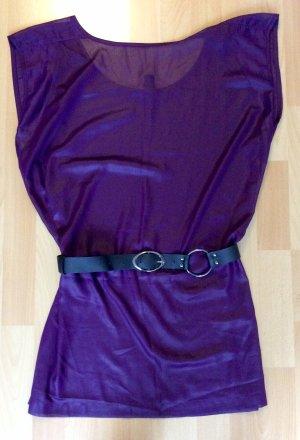 Transparentes lilafarbenes Kleidchen mit Gürtel von Vero Moda, xs (NEU)